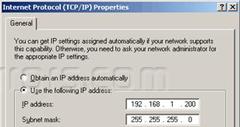 Assign static ip windows 7