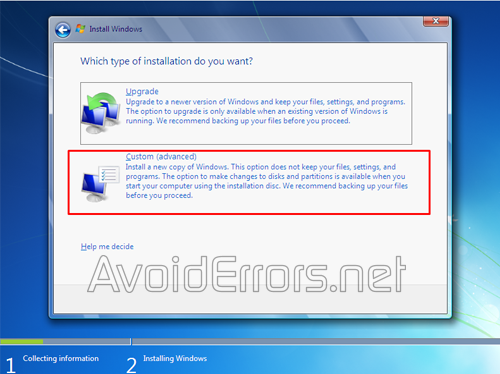 How to format and Reinstall Windows 7 4