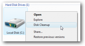 Add Disk Cleanup to the Right-Click Menu