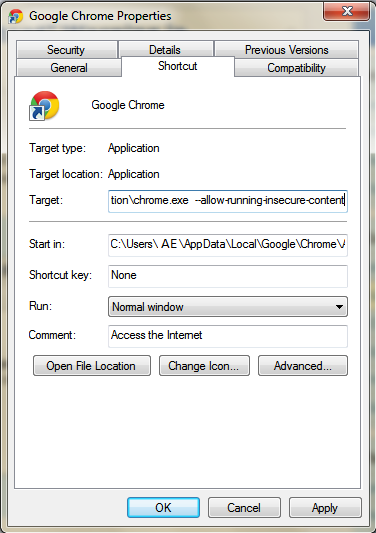 Disable-Insecure-Content-Warning-Google-Chrome