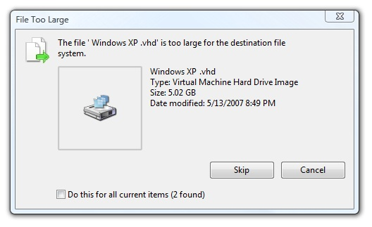 File Too Large