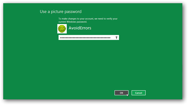 Create a Picture Password in Windows 8 3