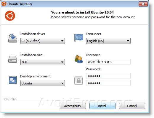 Dual-Boot Windows 7 and Ubuntu 12.04 Using the Wubi Installer