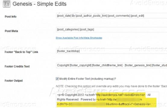 How to Edit Genesis Footer Credit Links2
