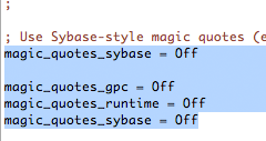 How to Disable Magic Quotes in php on GoDaddy