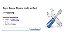 """Fix """"Oops! Google Chrome could not find…"""" Error"""