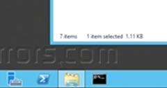 How to Add Run to Windows Task Bar in Windows 2012 Server
