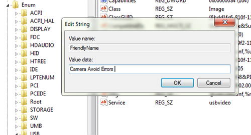 Customize name device manager 7