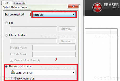 Free disk space schedule 4