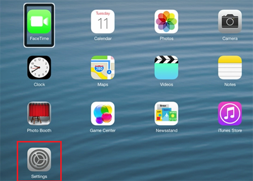 Reset iDevice Home Screen 1