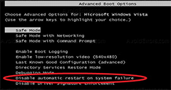 How To Disable Automatic Restart on System Failure Windows 7