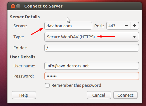Access Box.net Account from Ubuntu