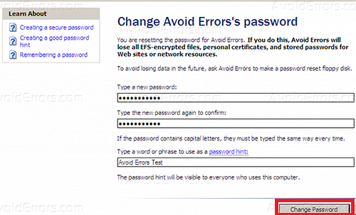 Reset Windows XP Password Without third Party Software - AvoidErrors