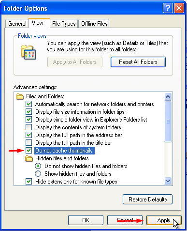 Clear the Thumbnail Cache in Windows 3