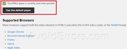 Enable HTML 5 image 2