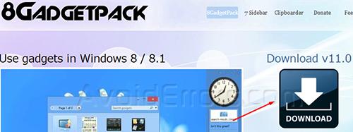 Gadgets on Windows 8 1