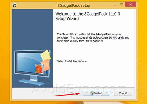 Gadgets on Windows 8 2