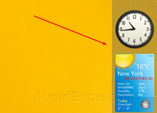 Gadgets on Windows 8 3