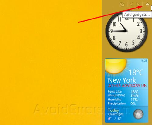 Gadgets on Windows 8 4