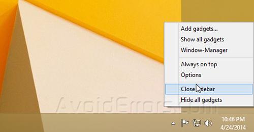 Gadgets on Windows 8 6