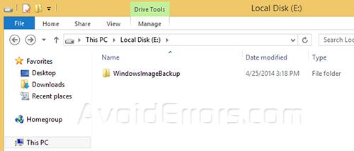 System Backup Image windows 3