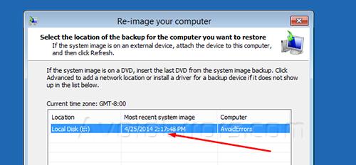 System Backup Image windows 9
