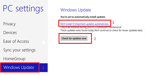 Windows 8 update manually