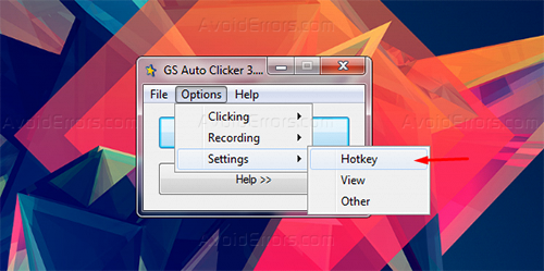 How to Autoclick Using - GS Auto Clicker - AvoidErrors