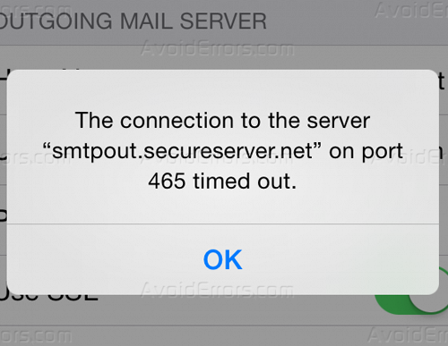Email Was Rejected by The Server