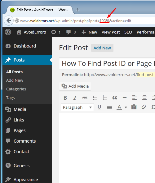 How To Find Post ID or Page ID in WordPress 1