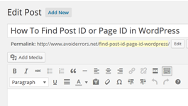 How To Find Post ID / Page ID in WordPress