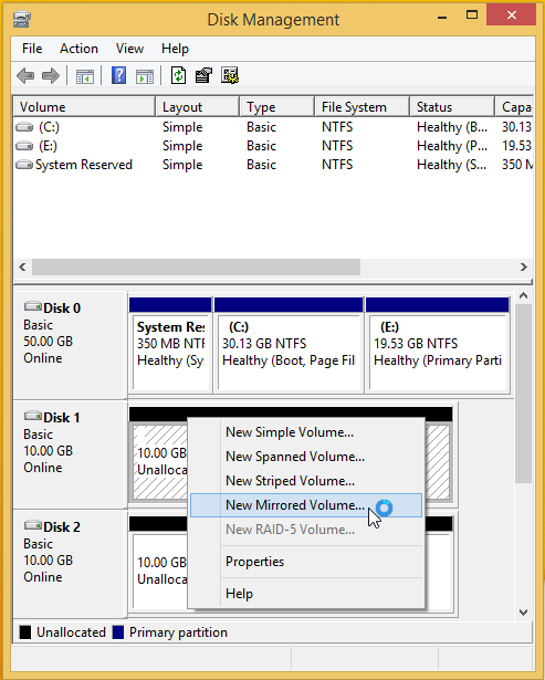 Use Drive Mirroring for Instant Backup in Windows 8 22