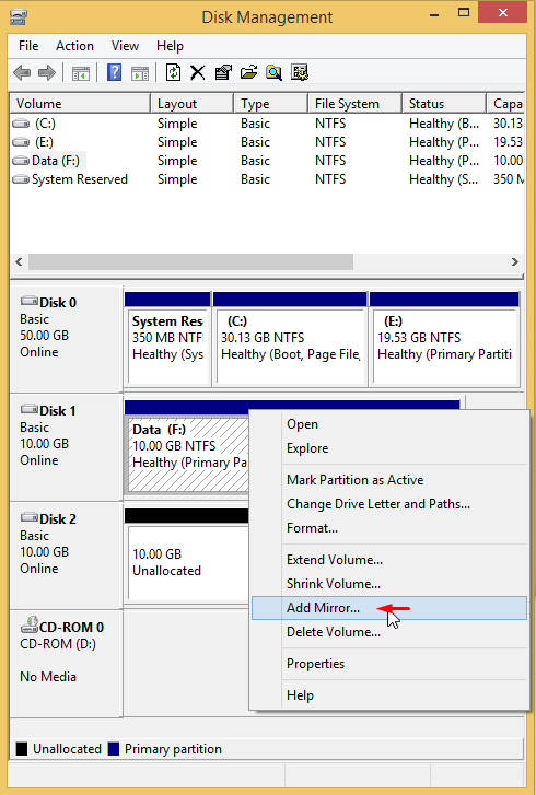 Use Drive Mirroring for Instant Backup in Windows 8 3