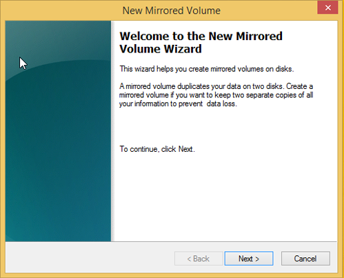 Use Drive Mirroring for Instant Backup in Windows 8 33