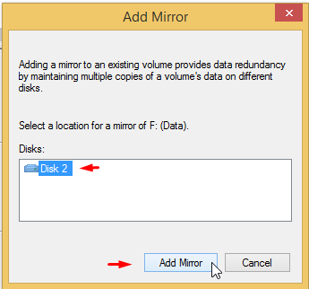 Use Drive Mirroring for Instant Backup in Windows 8 4