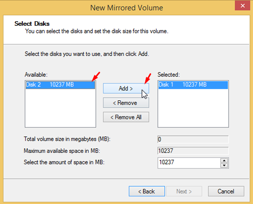 Use Drive Mirroring for Instant Backup in Windows 8 44
