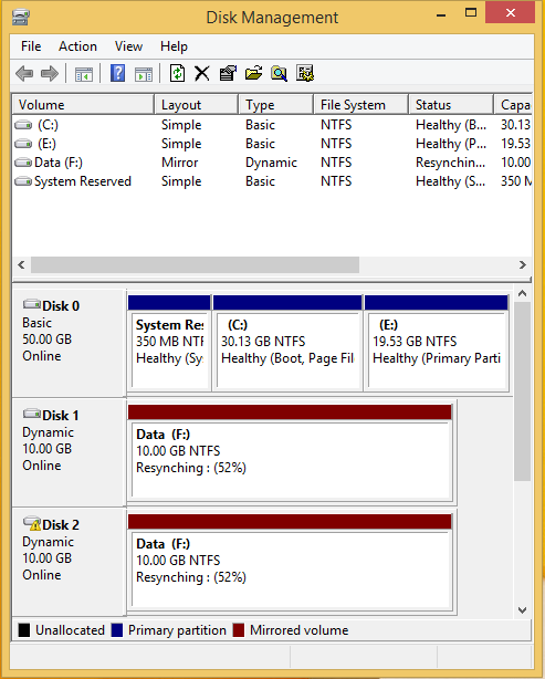 Use Drive Mirroring for Instant Backup in Windows 8 6