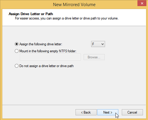 Use Drive Mirroring for Instant Backup in Windows 8 66
