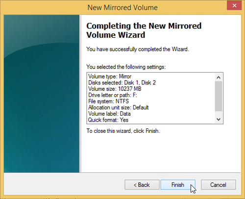 Use Drive Mirroring for Instant Backup in Windows 8 88