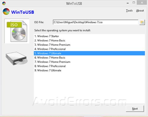 How to Create a Windows 7 Portable USB Drive - AvoidErrors