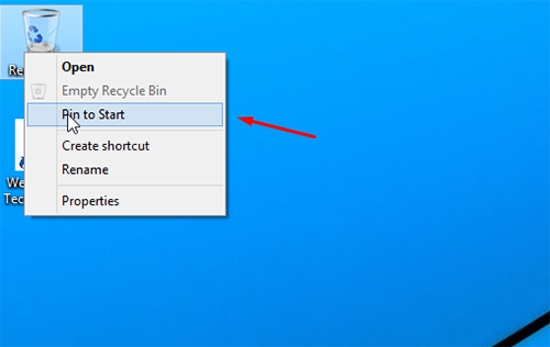 Recycle bin on start 1