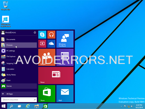 install Windows 10 Technical Preview 8