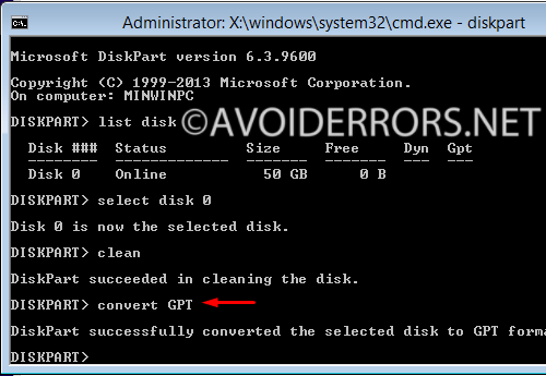 Fix Windows Cannot be Installed to this Disk - AvoidErrors