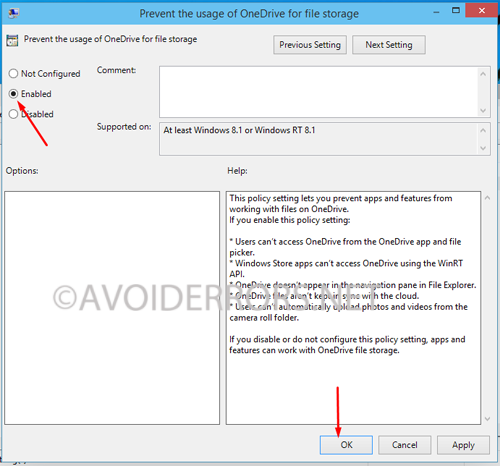 disable onedrive integration in windows 2