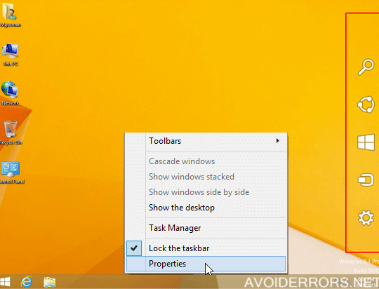 How to Disable Charms Bar Windows 8.1