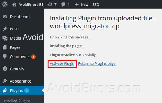 Migrate-your-WordPress-Website-Using-Migrator-Plugin-24