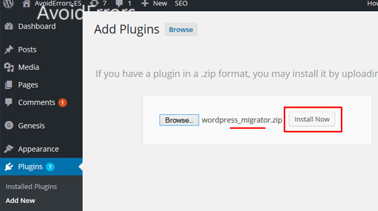 Migrate-your-WordPress-Website-Using-Migrator-Plugin-25