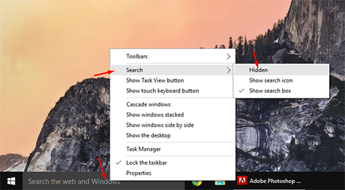 Remove windows 10 search bar 2