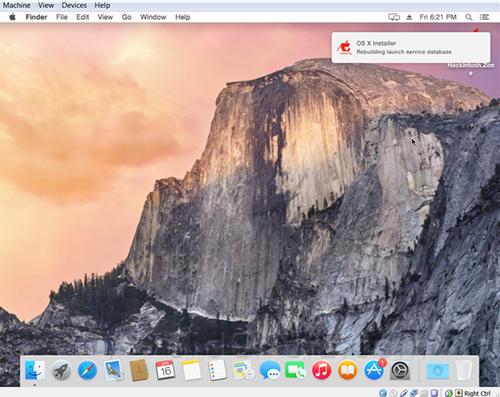 Yosemite on virtual box 18