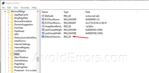 change default download location in edge 4